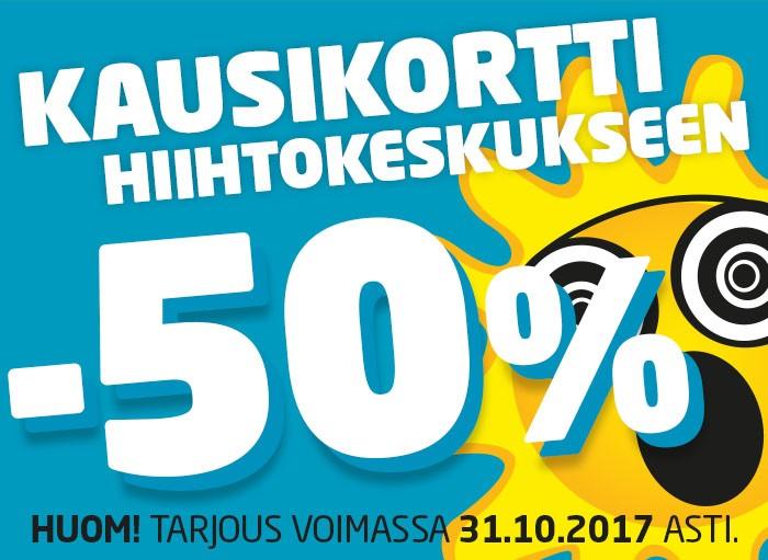 Kausikortti -50%!