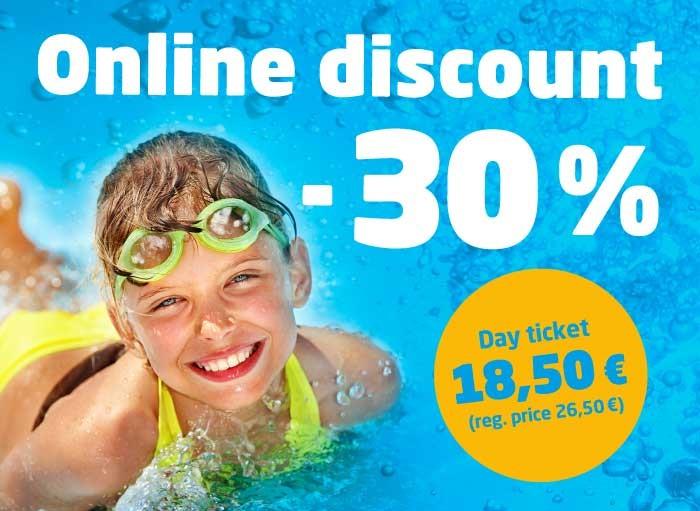 30% off online!